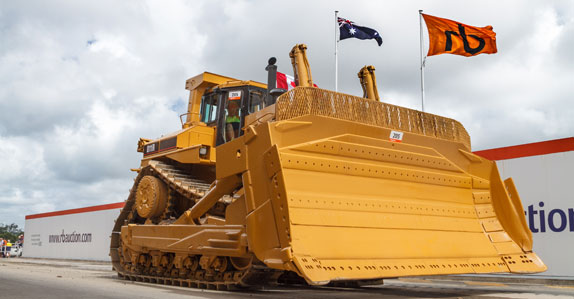 Follow the yellow iron road to Ritchie Bros  for Caterpillar
